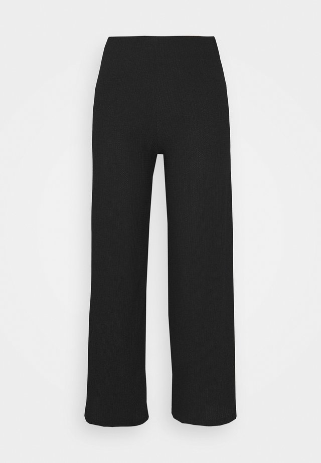 WIDE LEG TROUSER - Stoffhose - black