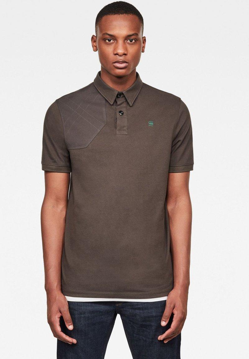 G-Star - HUNTING PATCH - Polo shirt - asfalt