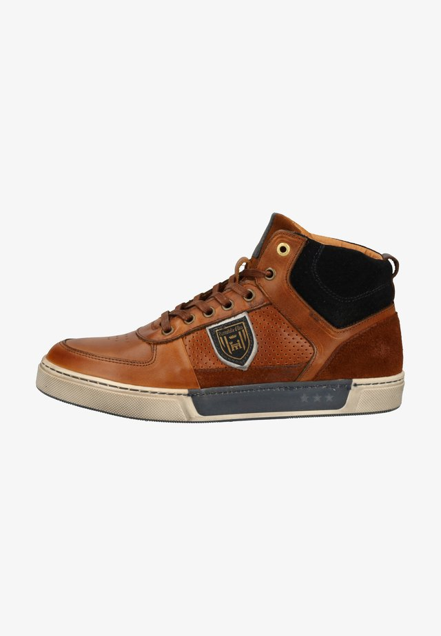High-top trainers - tortoise shell