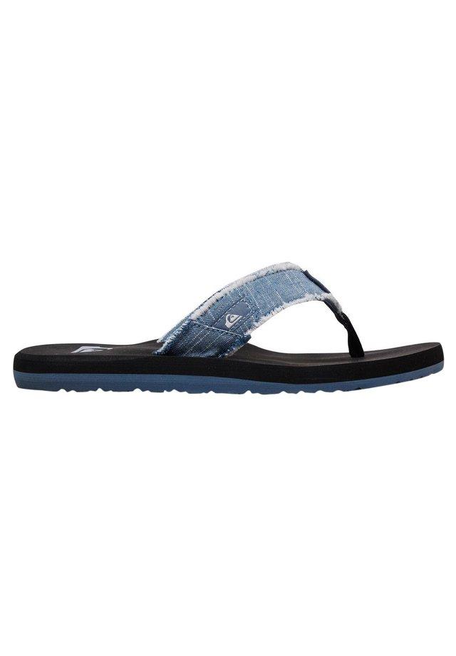 MONKEY ABYSS YT  - T-bar sandals - blue/blue/black