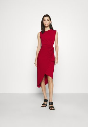SIDE KNOT DRESS - Vestido de cóctel - cherry