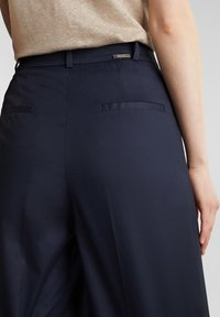 Esprit Collection - HIGH RISE CULOTTE - Trousers - navy - 5