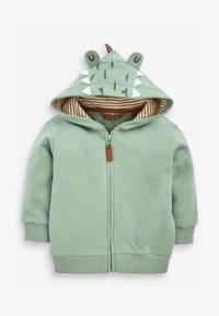 Next - DINO SPIKES - Zip-up sweatshirt - khaki - 0