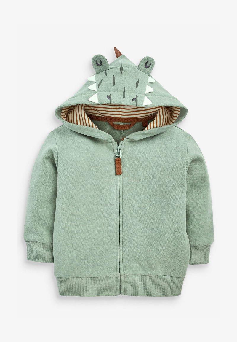 Next - DINO SPIKES - Zip-up sweatshirt - khaki