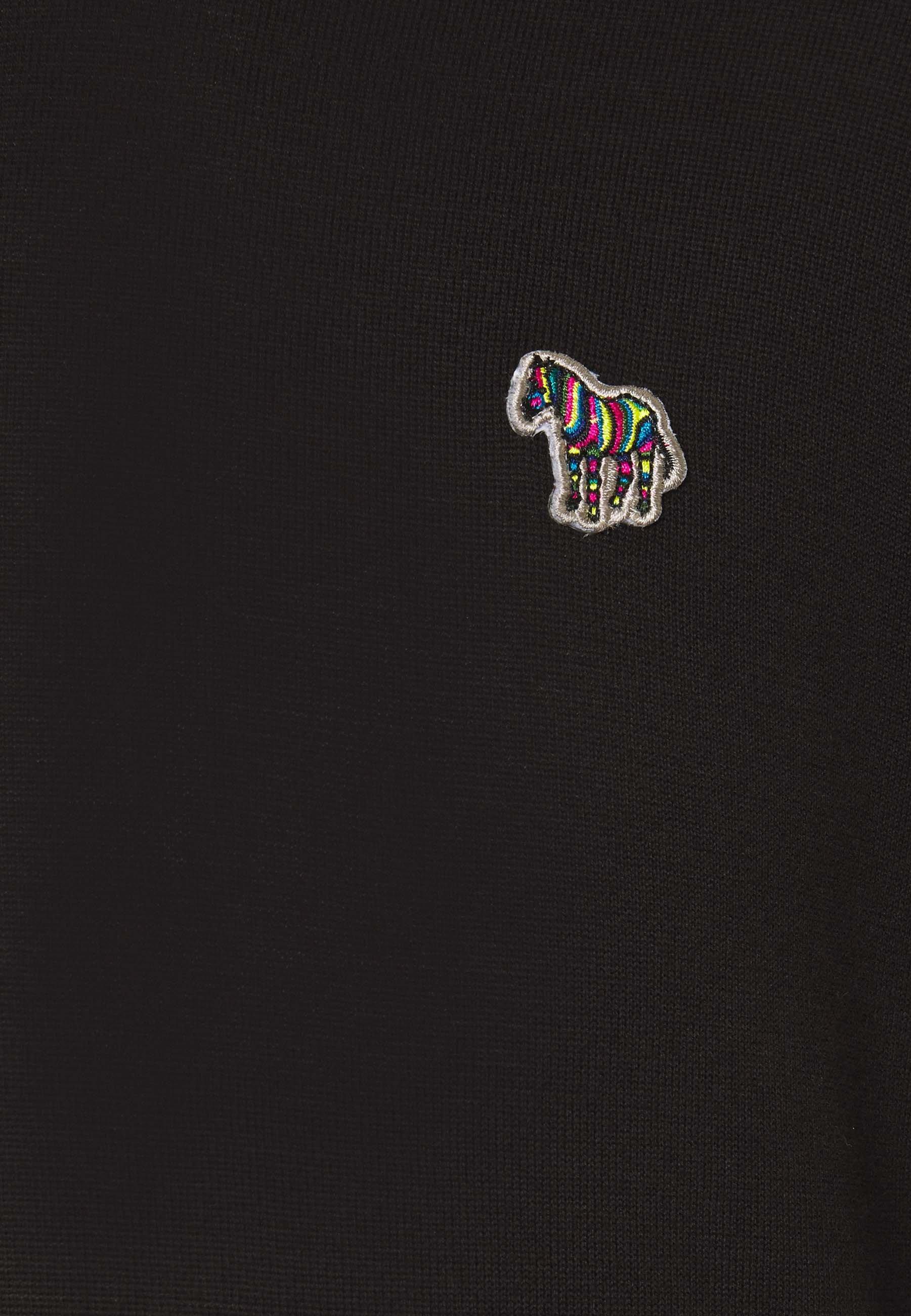 PS Paul Smith MENS CREW NECK ZEBRA - Strickpullover - black/schwarz - Herrenwinterkleidung ahx6D