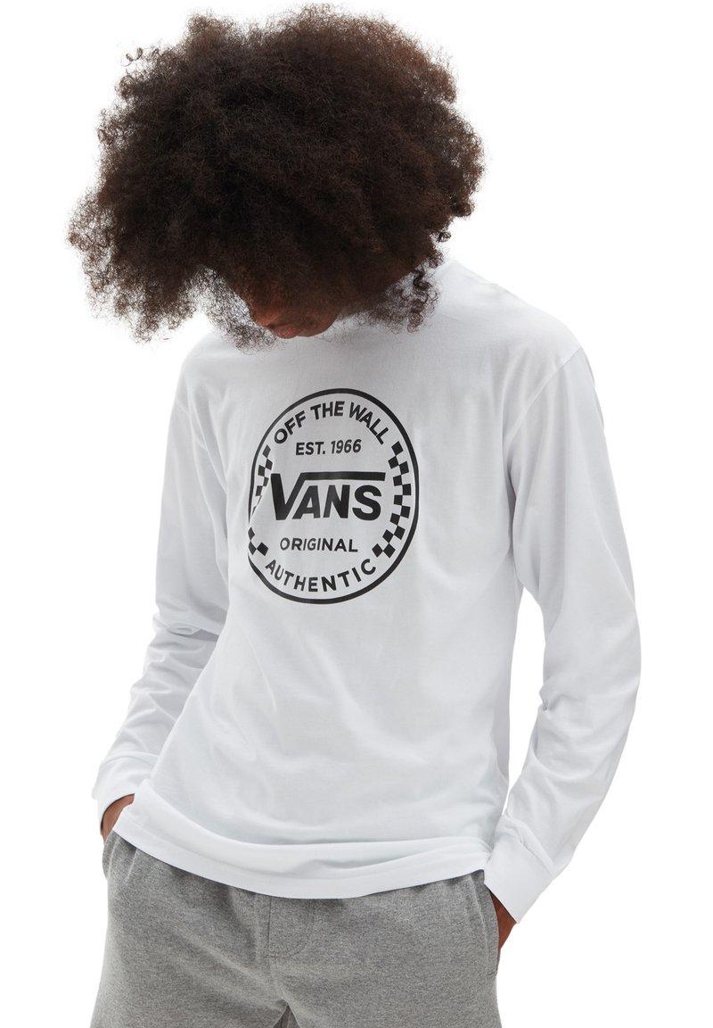 Vans - MN AUTHENTIC CHECKER LS - Sweatshirt - white