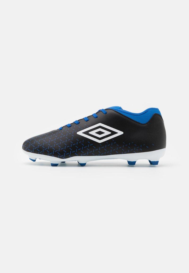 Umbro - VELOCITA V CLUB FG - Moulded stud football boots - black/white/victoria blue