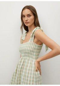 Mango - MED VICHY-RUTER - Day dress - havgrønn - 2