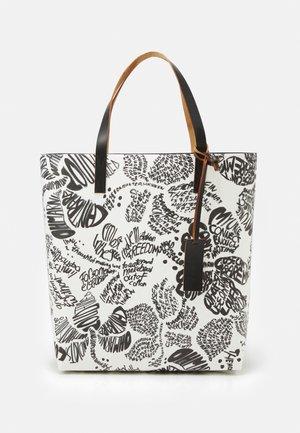 TRIBECA - Velká kabelka - natural white/black