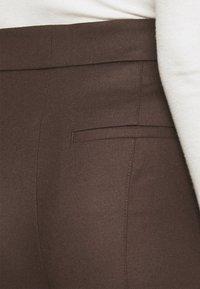 Marc O'Polo PURE - WIDE LEG PANTS HIGH WAISTED PINTUCKS - Trousers - mocca brown - 3