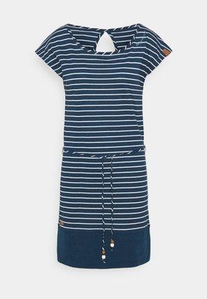 SOHO STRIPE - Sukienka z dżerseju - navy