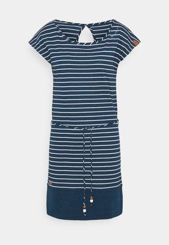 SOHO STRIPE - Jersey dress - navy
