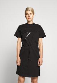 HUGO - NOMELIA - Vestito di maglina - black - 0