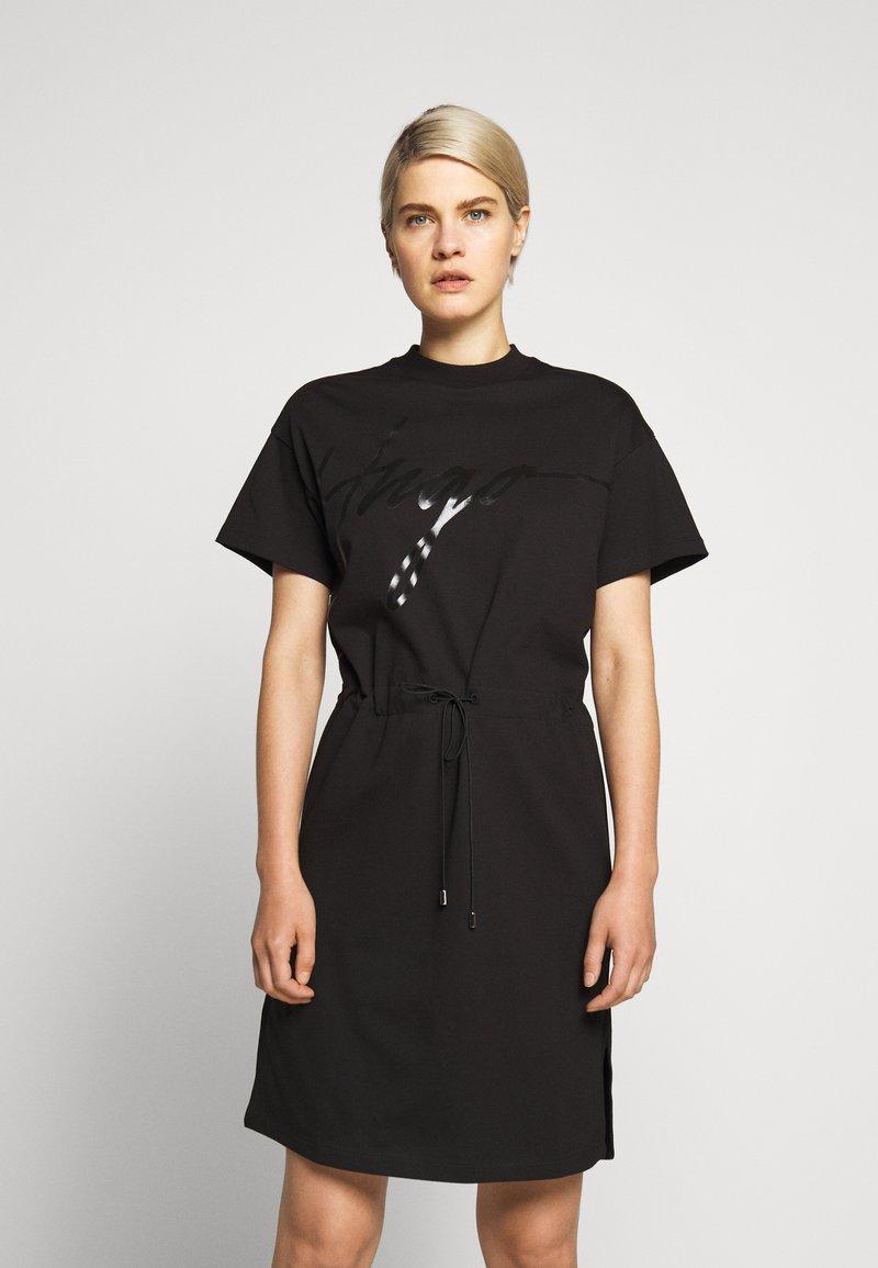 HUGO - NOMELIA - Vestito di maglina - black