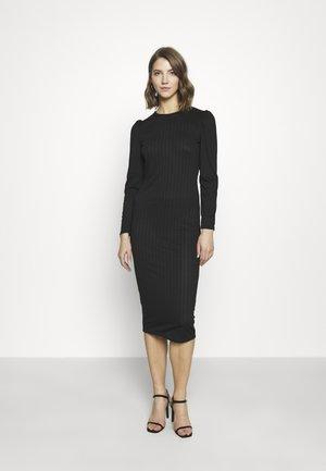 MAXI DRESS SQUARE NECK - Shift dress - black