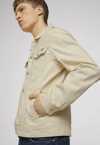 TOM TAILOR DENIM - Denim jacket - unbleached natural bull denim - 4