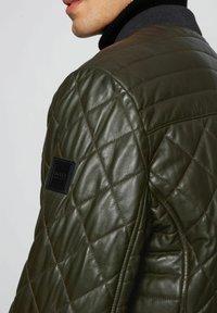 BOSS - JECEY - Leather jacket - open green - 3