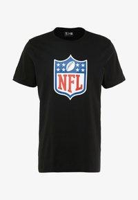 New Era - NFL SHIELD BACK TO BLACK TEE - Triko spotiskem - black - 4