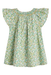 Next - GREEN 2 PIECE GOTS ORGANIC COTTON BLOUSE AND BLOOMER SET (0MTHS- - Denim shorts - green - 2