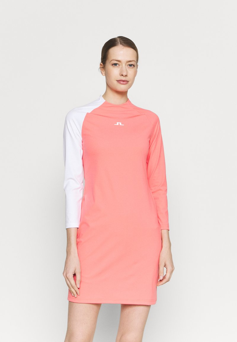 J.LINDEBERG - WILLA GOLF DRESS 2IN1 - Sports dress - tropical coral