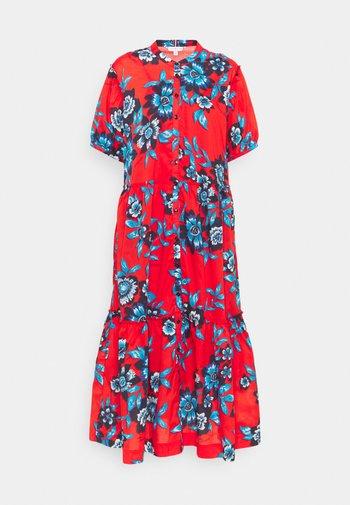 VOILE FLORAL MIDI DRESS  - Shirt dress - hot house/fireworks