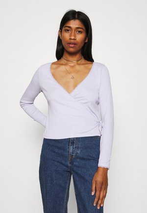 NADJA - Long sleeved top - lilac purple dusty light solid