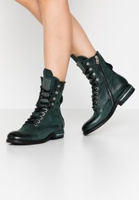 A.S.98 - Lace-up ankle boots - balsamic - 0