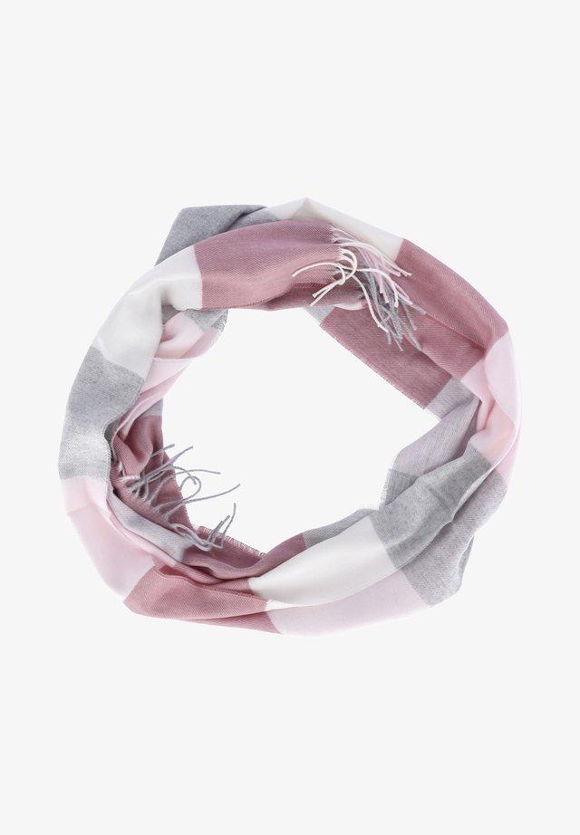 Snood - rosa-grau-weiß