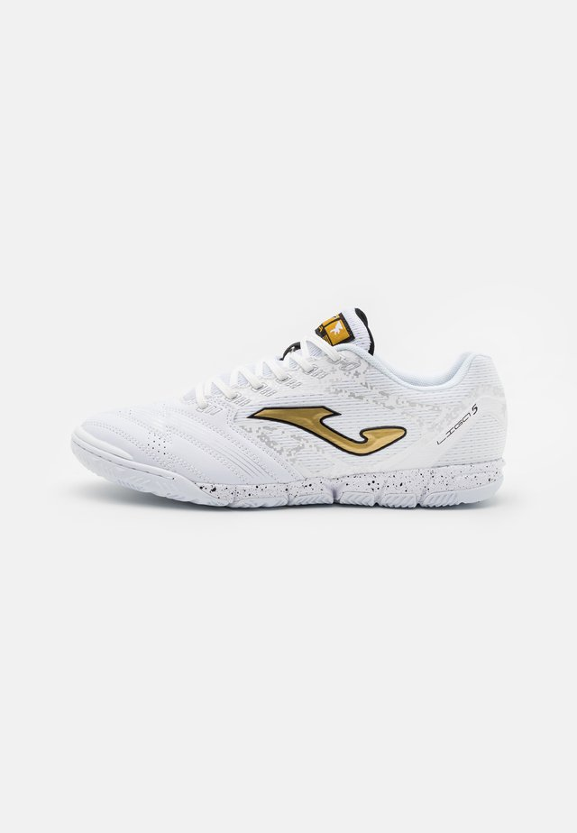 LIGA 5 - Indoor football boots - white/gold