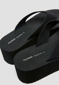 PULL&BEAR - T-bar sandals - black - 5