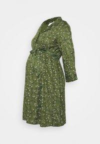 MAMALICIOUS - MLLEVETTA DRESS  - Abito a camicia - olivine - 4