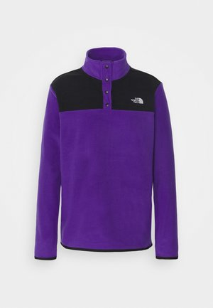 GLACIER SNAP NECK - Fleece jumper - peak purple/tnf black