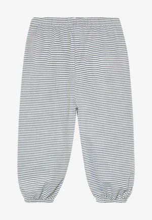 STRIPE BABY ZGREEN - Trousers - white/blue