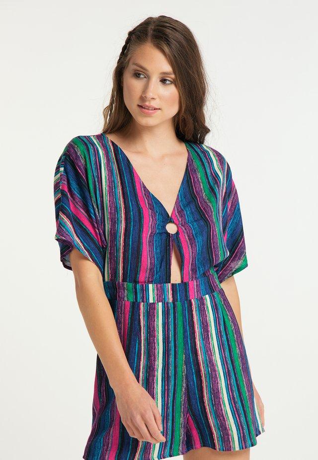 Tuta jumpsuit - multicolor gestreift