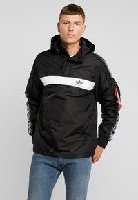 Alpha Industries - AL TAPE ANORAK - Light jacket - black - 0