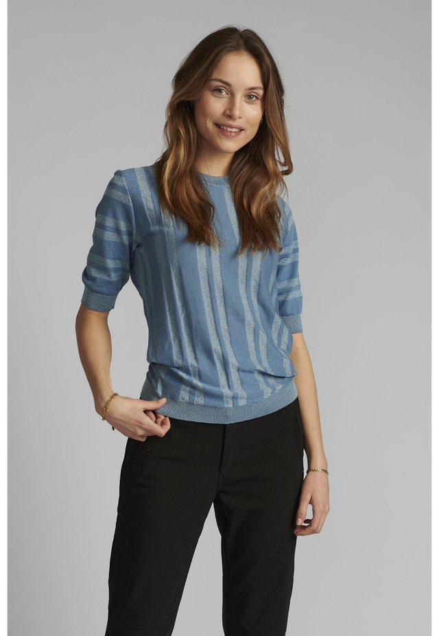 T-shirt con stampa - blue shadow