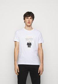KARL LAGERFELD - CREWNECK - Print T-shirt - white - 0