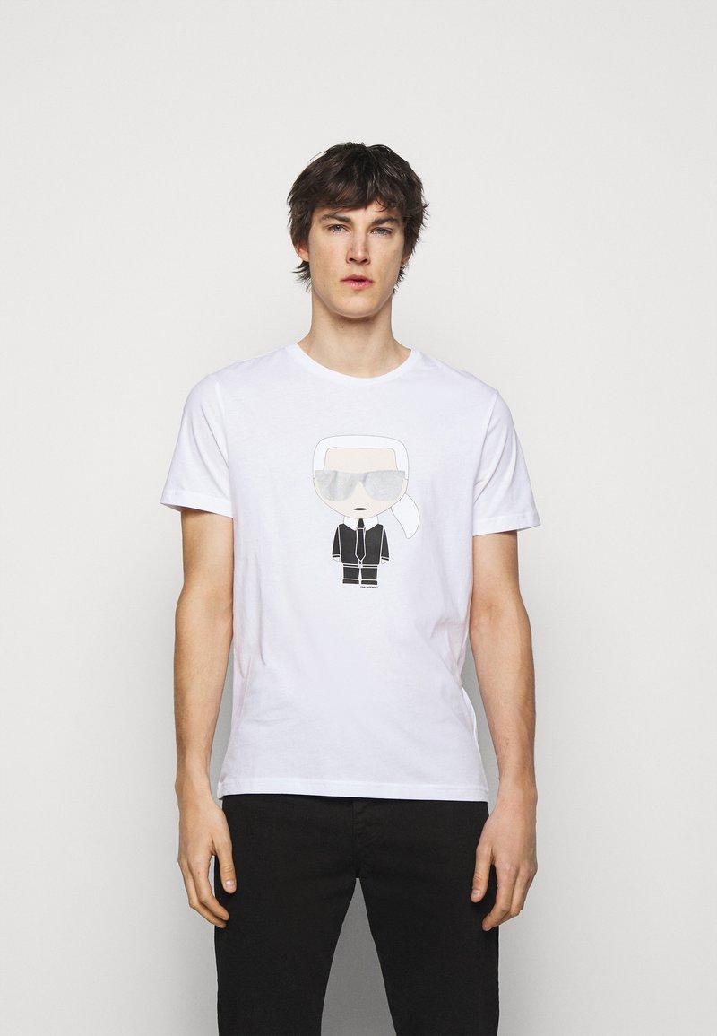 KARL LAGERFELD - CREWNECK - Print T-shirt - white