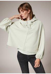 comma casual identity - MODALMIX - Zip-up sweatshirt - misty green - 0
