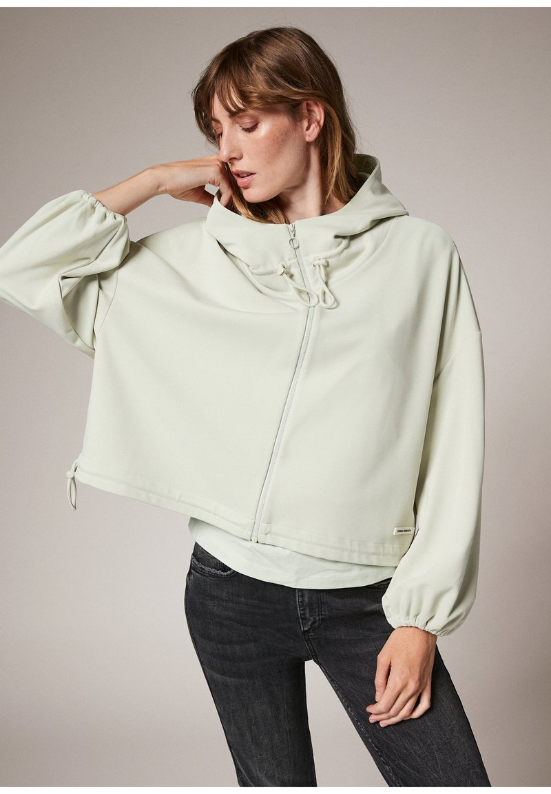 comma casual identity - MODALMIX - Zip-up sweatshirt - misty green