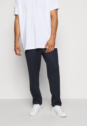 EBERLEIN WITH ROLL UP CHECK - Trousers - panamera blue