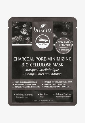 CHARCOAL PORE-MINIMIZING BIO-CELLULOSE MASK - Face mask - clear
