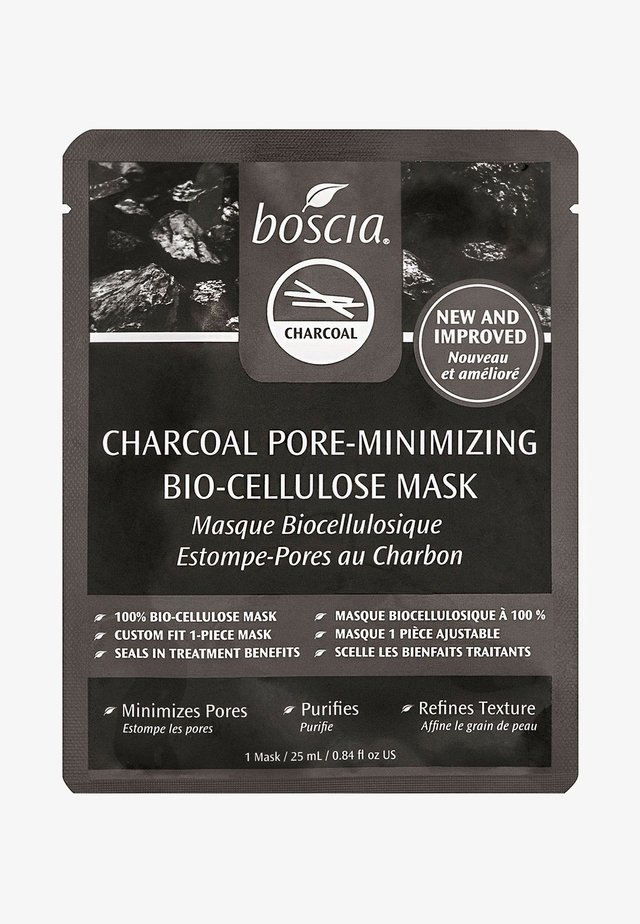CHARCOAL PORE-MINIMIZING BIO-CELLULOSE MASK - Ansiktsmask - clear