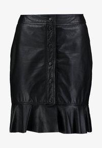 Ibana - ABBY - Leather skirt - black - 3
