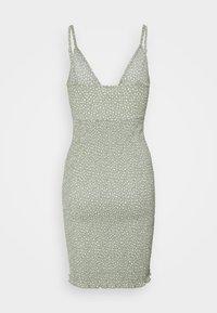 Object Petite - OBJLEVENTA STRAP DRESS - Shift dress - desert sage - 1