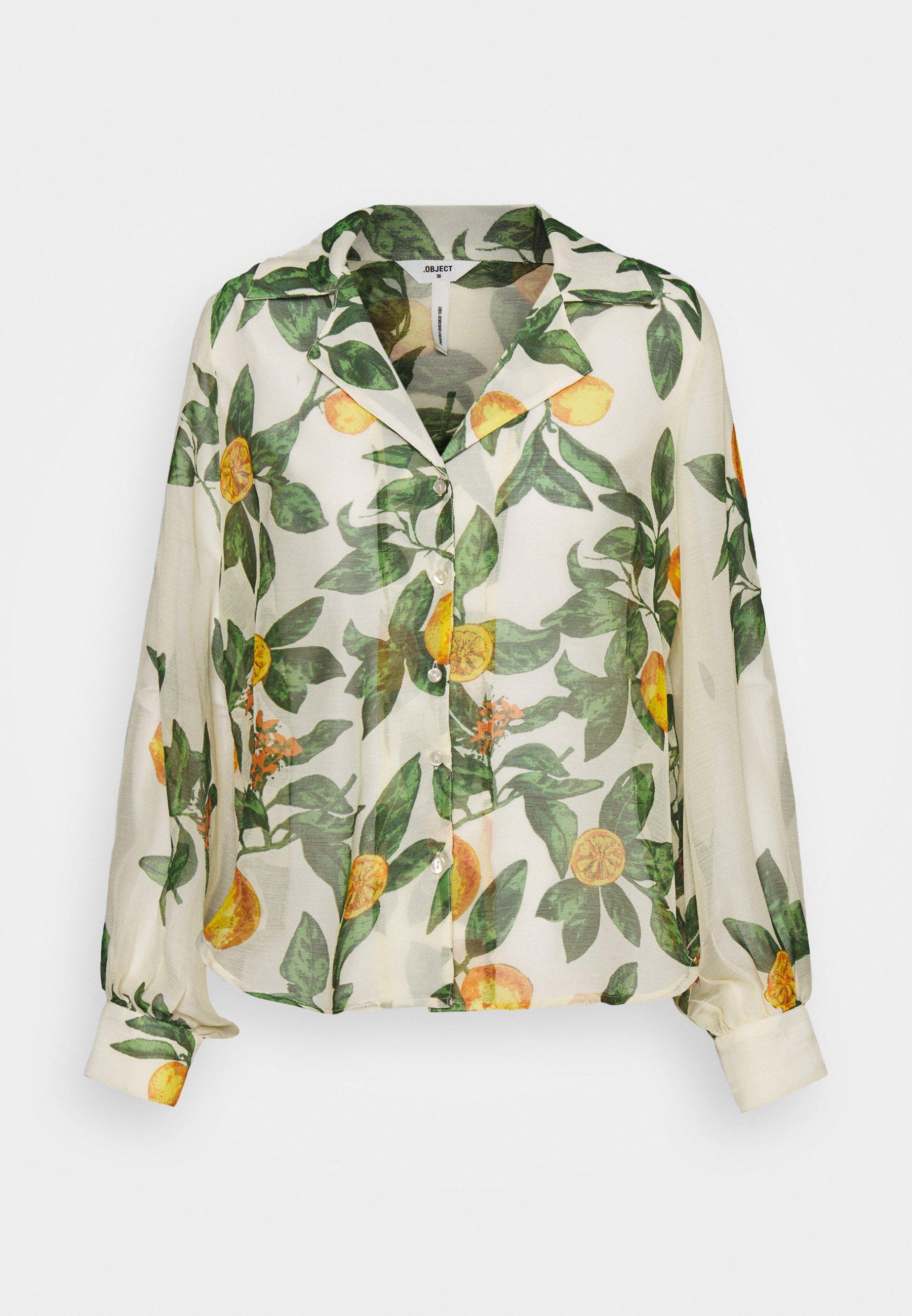Women OBJLEMON - Button-down blouse