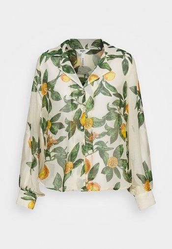 OBJLEMON - Button-down blouse - sandshell