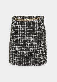 New Look - CHAIN MINI SKIRT - Mini skirt - black - 4