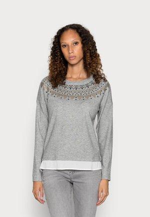 FALDON COLLAR TACHAS - Long sleeved top - dark grey