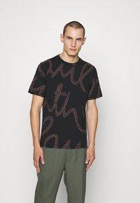 Paul Smith - ROPE LOGO - T-shirt print - black - 0